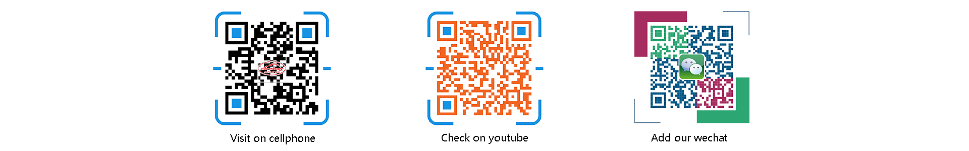 QR CODE FOR WEB AND WECHAT